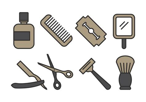 barber shop icon pack   vector art stock graphics images