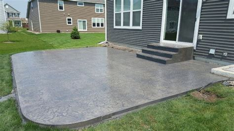 roman slate stamped patio  step system stamped