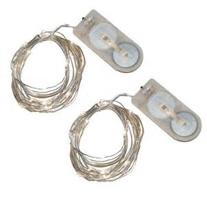 lumabase 40 light mini battery operated waterproof string lights in white 2 count 64002 the