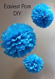 DIY Tissue Paper Pom Pom Decorations