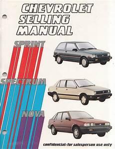 1986 Sprint Air Conditioner Repair Shop Manual Original