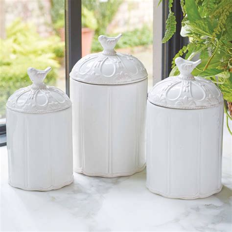 white kitchen canisters white kitchen canister sets choosing gallery also ceramic