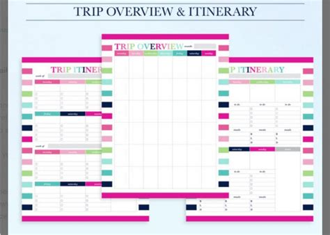 itinerary template examples templates assistant