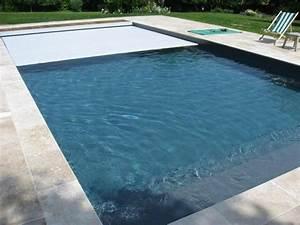 couleur d39eau liner gris anthracite piscine With exceptional decoration jardin avec galets 18 travertin dimapco