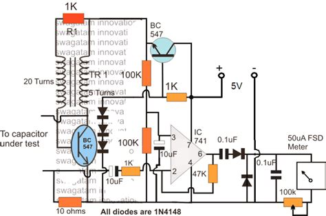 Simple Esr Meter Circuit Homemade Projects
