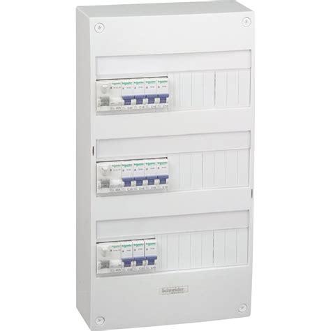 tableau electrique pour cuisine tableau électrique équipé et précâblé schneider electric 3 rangées 39 modules leroy merlin