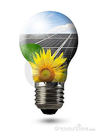 bulb with of solar panel stock photography image 22540052