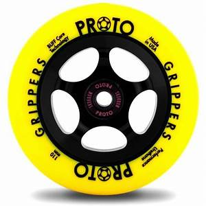 Proto Gripper 110mm Neon Yellow Black Scooter Wheel