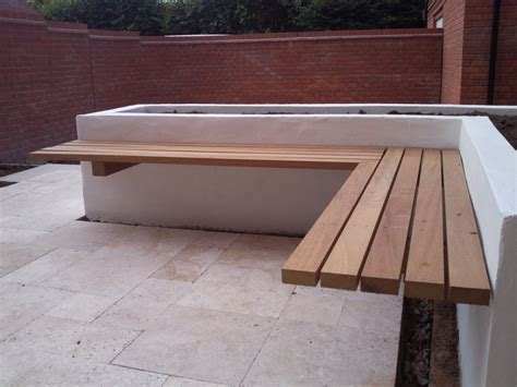 terrific outdoor bench idea with marvelous wooden seating