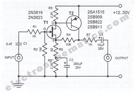 Audio Preamplifiers Projects Circuit