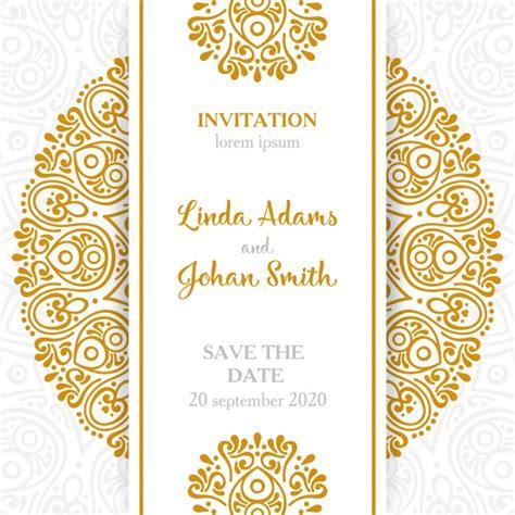 vector vintage wedding invitation  mandala