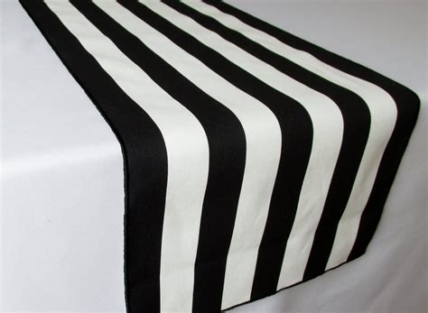Black And White Striped Table Runner Wedding Table Runner