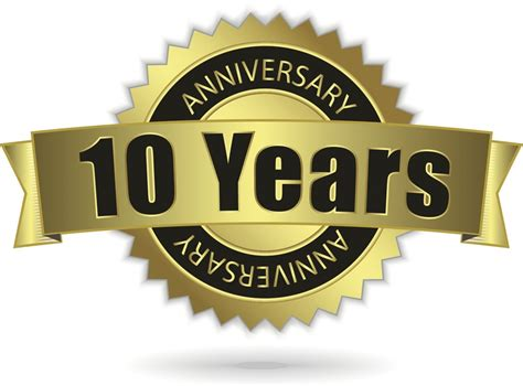 tenth anniversary 10th anniversary events