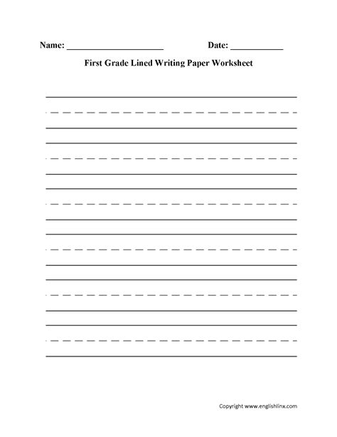 grade writing activities worksheets  kids