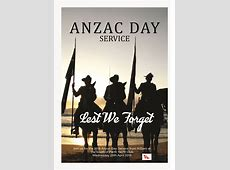 ANZAC Day Poster 2018jpeg South of Perth Yacht Club
