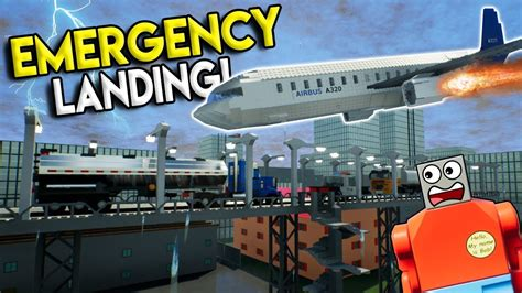 lego airplane  emergency crash landing brick rigs
