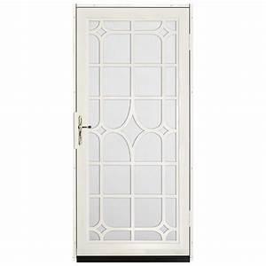 unique home designs 36 in x 80 in lexington almond With unique home designs screen door