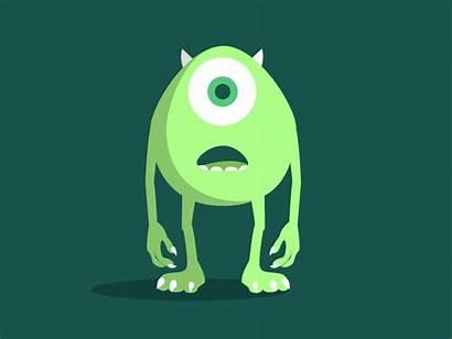 Mike Wazowski Animation Dribbble Pixar Disney Character