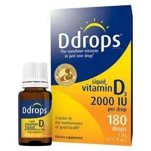 D Drops Vitamin D3 2000iu, 180 Liquid Drops, .17 OZ