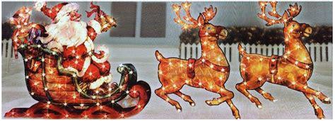 santa  sleigh outdoor christmas decorations ideas photo
