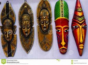 Indian Colourful Tribal Mask Stock Photo