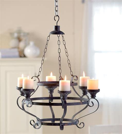 pillar candle chandelier iron pillar candle holder chandelier 87323 iron pillar