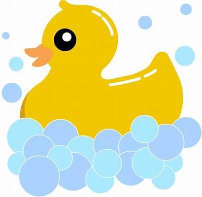 Duck Rubber Clipart Bubbles Clip Rub Foam
