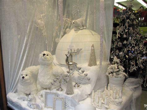 christmas decoration displays white store display ideas retail details