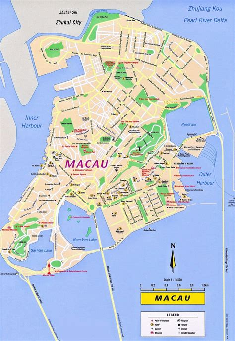 macau tourist map macau china mappery macau map