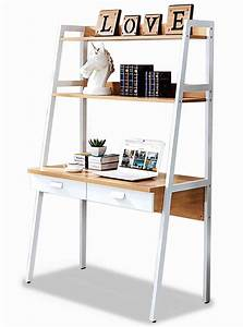Parry, Study, Table, With, Top, Shelves