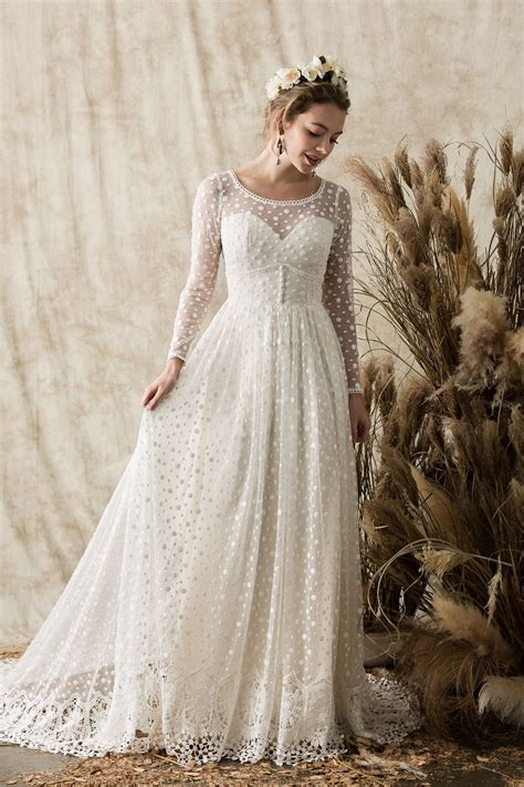 Miranda Long Sleeve Lace Wedding Dress Dreamers And Lovers