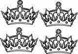 Crowns Crown Coloring Prince Drawing Four Tattoo Clip Clipart Vector Cliparts Clker Drawings Paintingvalley Library sketch template