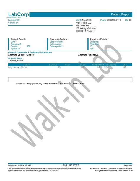 Amylase Serum Test Walk Lab