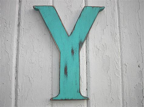 Rustic Wood Letter Bi 12 Inch Letter Y Initial Alphabet