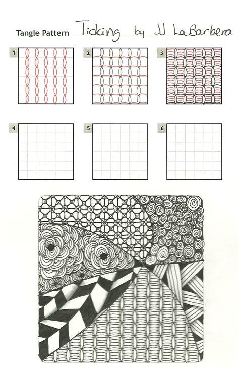 tinker tangles  pattern ticking