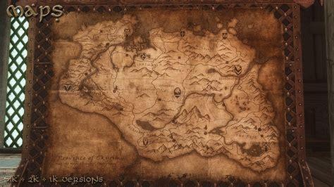 skyrim map wallpaper  images