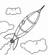 Rocket Ship Coloring Drawing Simple Pages Illustration Cartoon Illustrations Drawn Hand Getdrawings Dreamstime Vectors Preview sketch template