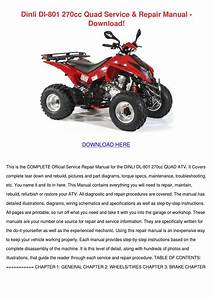 Dinli Dl 801 270cc Quad Service Repair Manual By