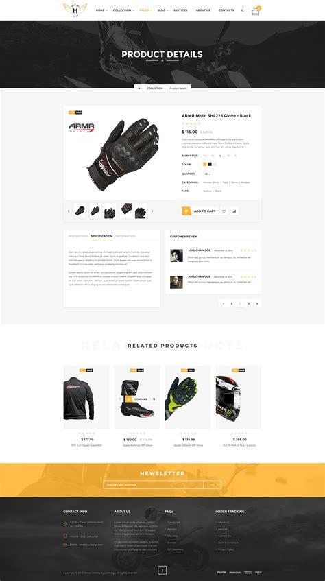 Motor Vehikal Motorcycle Online Store Html Template