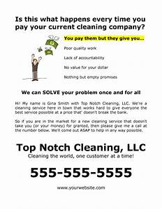 free flyer example for commercial or residential cleaning With janitorial service sales letter