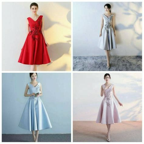 jual gaun dress natal pesta gala dinner wedding ori impor