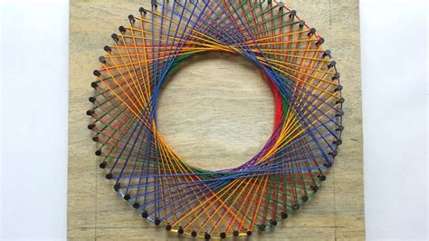 How To Create A Colorful Spirograph String Art