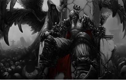 King Throne Skull Wallpapers Crown Demon Wings