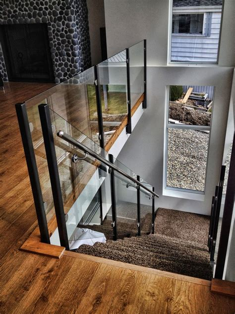 Glass Banisters For Stairs by Picture Gallery Of Our Custom Glass Railings Interior
