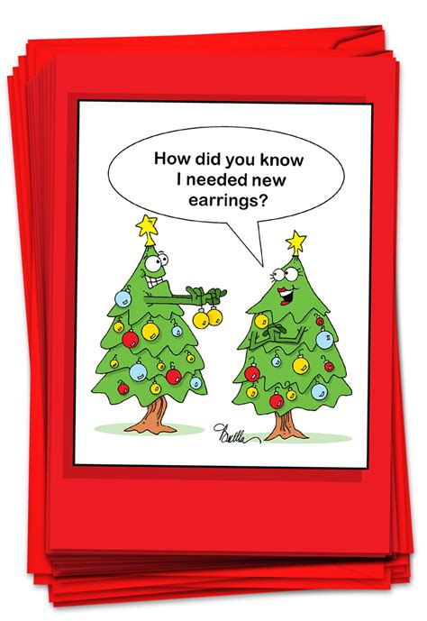 Laughter is the best medicine and the best way to make your marketing efforts count! 12 Christmas Greeting Cards Boxed - Funny Xmas Tree Humor ...
