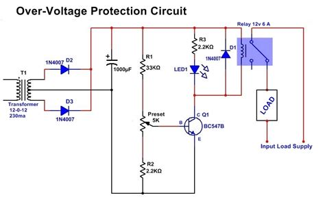 Simple Overvoltage Protection Circuit Diagram High