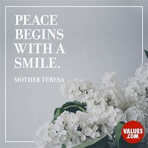 """Peace begins... Peace And Smile Quotes"