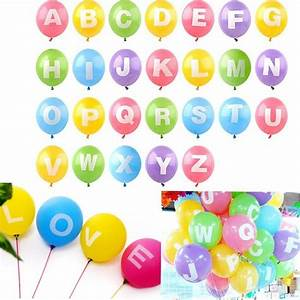 12quot latex helium balloon letter a z full alphabet party With latex letter balloons