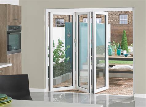 white bifold doors supreme range white grey aluminium bifolding doors 187 vufold