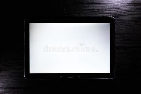 android tablet pc  ipade  touching hand  blank